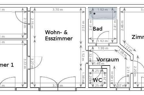 Erstbezug Wohnung in Grein mit 2 Schlafzimmern