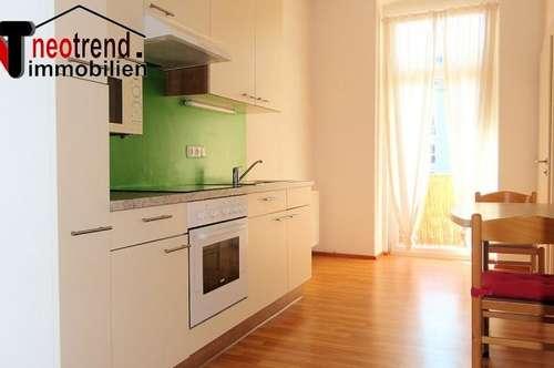 Zentrale ruhige Wohnung, mit Loggia