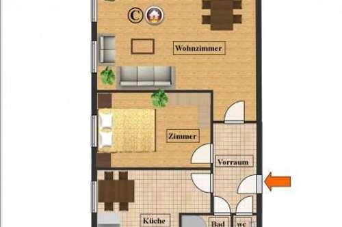 2 Zimmer Wohnung inkl. Dachterrasse!