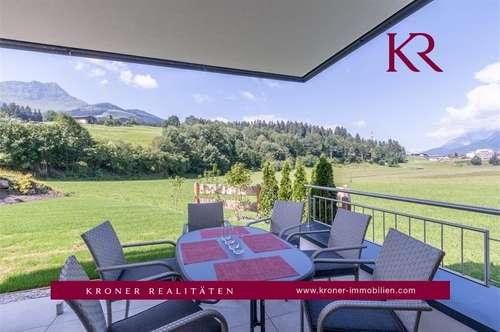 Erstbezug: Exklusive 3 Zimmer Wohnung mit Terrasse und Garten in St. Johann zu vermieten