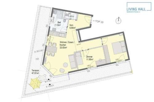 LIVING HALL Dachterrassen-Wohnung mit weitem Blick