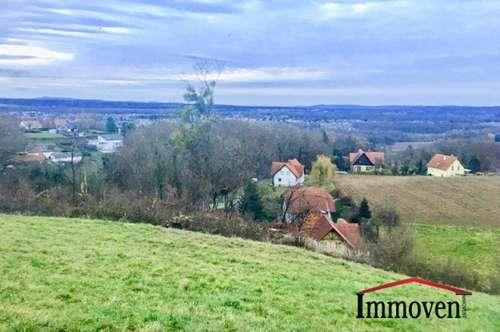Sonniger Baugrund mit 4000 m² Grundstücksfläche mit grandioser Panoramaaussicht in der Südsteiermark