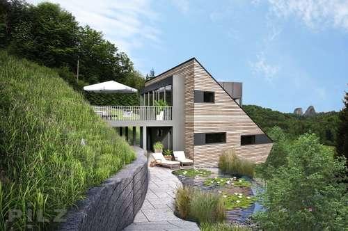 Bad Dürrnberg : Grundstück mit Planung für bewilligtes extravagantes Haus