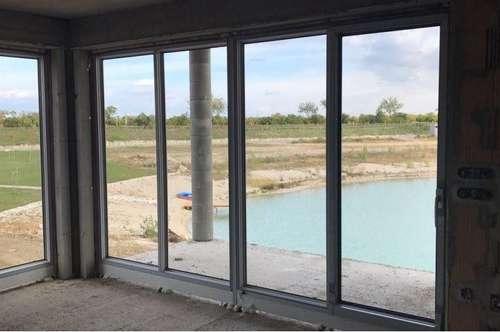 Wohnen am See! Eigener Garten + Strand! Neubauprojekt mit 4 Eigentumswohnungen im Naturpark Kittsee! Incl. 2 PKW Abstellplätze!!!