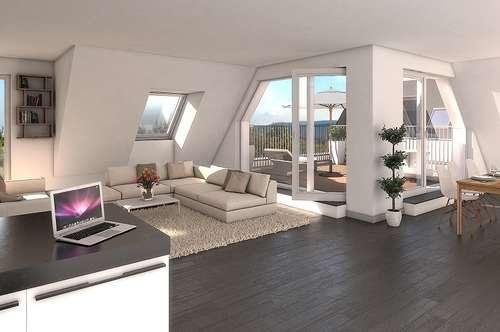 Ruhige Dachgeschoß-Wohnung im Zentrum von Brunn am Gebirge