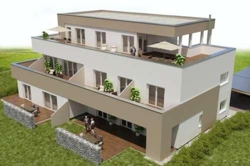 2 -Zimmer Neubauwohnung mit ca. 75m² großem Eigengarten/ Süd-Ausrichtung/ Straßgang/ provisionsfrei für den Käufer!