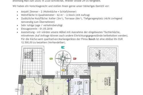 Genossenschaftswohnung an der Wiener Stadtgrenze