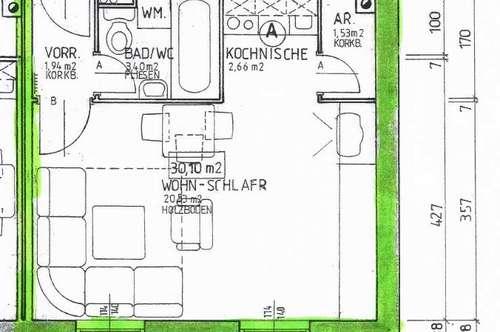 2-Zimmer Wohnung im Dachgeschoss  - nähe Krankenhaus in Wels / Gutenbergstraßee