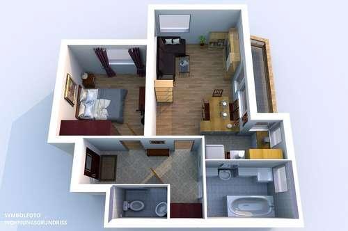 2-Zimmer-Wohnung mit 2 Autoabstellplätzen in Volders