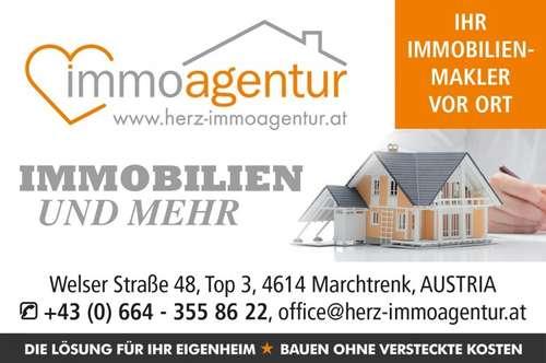 Großzügig geschnittene 3 Zimmer Wohnung mit Loggia, Parkplatz, geringe Betriebskosten und zentrale beliebte Lage in Marchtrenk!