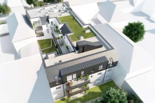 Schöne 4-Zimmer-Wohnung mit großem Balkon und Dachgarten, Top 13