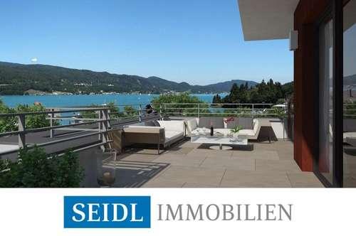 CALLISTA: Neubau-Penthouse in Velden mit Seeblick und Bademöglichkeit