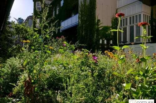 Erstbezug mit Südterrasse in absoluter Grünruhelage! Exklusive 3-Zimmer-Maisonette-Wohnung in historischem Gebäude