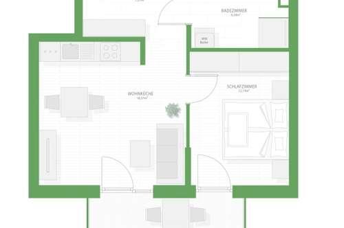 Süd-gerichtete 2-Zimmerwohnung ab September zu vermieten