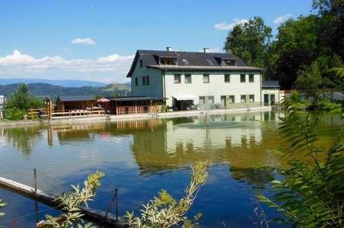 Großes Grundstück mit Wohnhaus und Freibadeanlage!