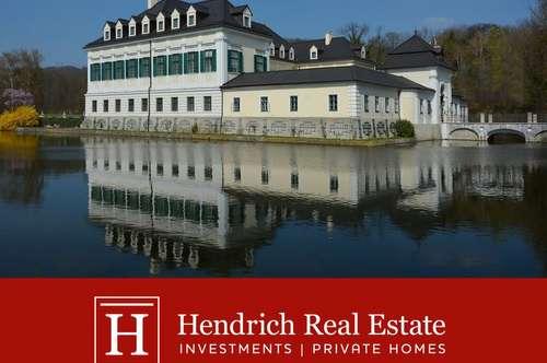 Barockes Wasserschloss in Wien mit Park und 8.300 m² Nutzfläche
