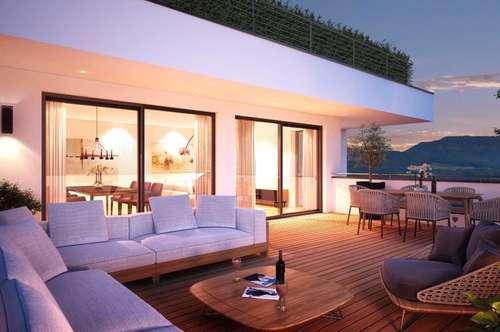 Feine, große 3-Zi-Wohnung mit XL-Terrasse! Erstbezug in Aigen!