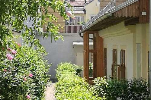 AB SOFORT!PROVISIONSFREI! 60m2 plus 60m2 Garten!!! Nicht alltägliches Häuschen im ruhigen, begrünten Innenhof im Zentrum von Stockerau