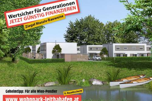 Haus 30! Doppelhaushälfte im Wohnpark Leithahafen! (Eckhaus) -wpls