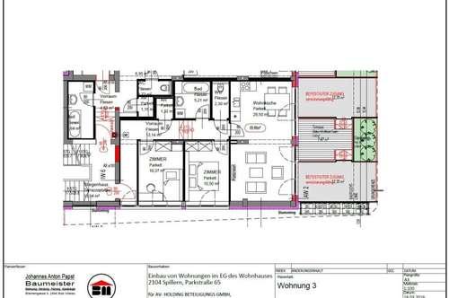 Spillern MIETWOHNUNG 69,46 m² - FÜR ERSTBEZUG mit Küche