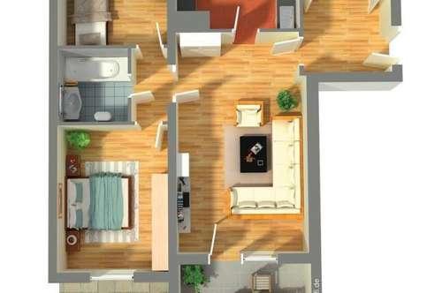 3-Zi-Eigentumswohnung mit Garten, Balkon und TG-Platz