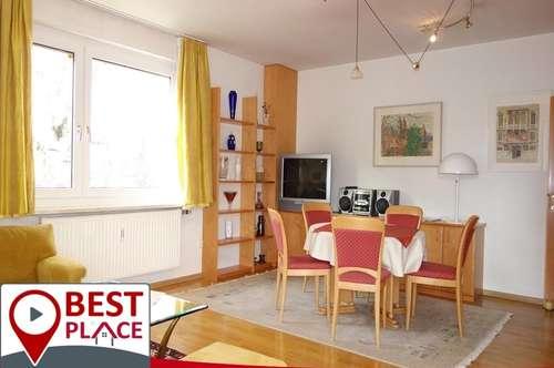 Zentrale 3 Zimmer Wohnung mit West-Balkon und Süd-Loggia!