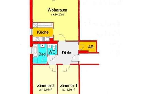 traumhaft neu sanierte 3-Zimmerwohnung mit großer Loggia in der Ragnitz - Nähe LKH