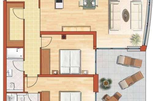 Sonnige Erdgeschosswohnung zu vermieten