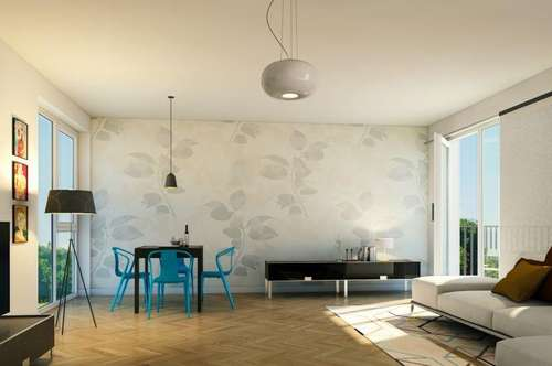 Erstbezug - Sehr schöne und helle 2-Zimmer-Wohnung mit Balkon in sehr guter und zentraler Lage