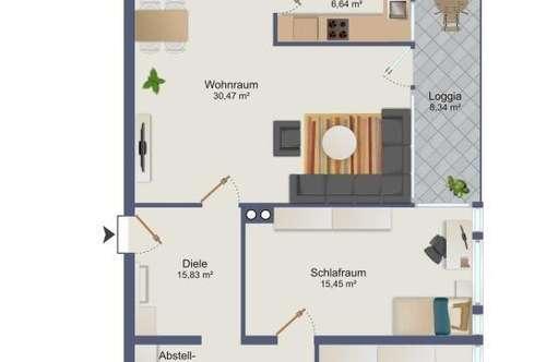 Lentia - Wohnen mit Weitblick - Großzügige Balkonwohnung