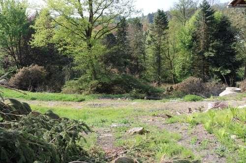 Grundstück mit Rohbau