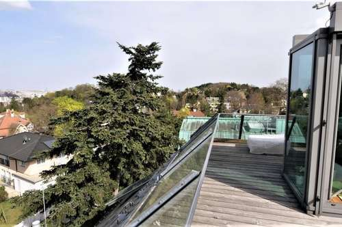 Super Penthouse in neu renovierter Villa / 40 m² Dachterrasse /Einliegerwohnung mit Saunalandschaft