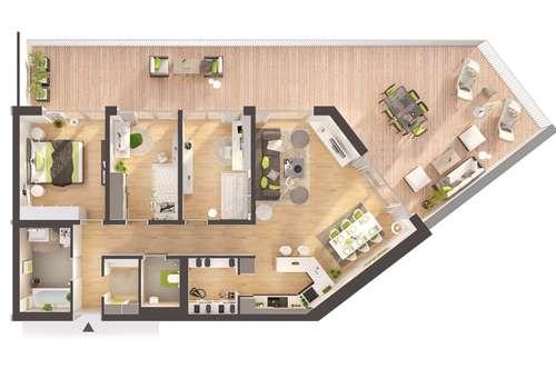 Provisionsfreie 4-Zimmer Neubau-Wohnung mit großer Terrasse