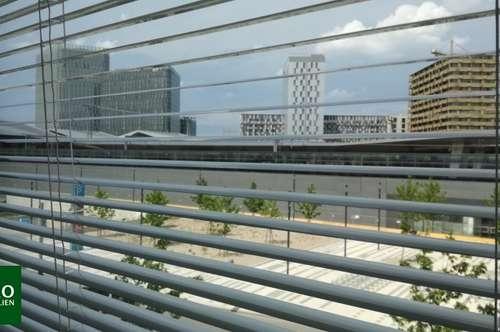 Modern möblierte 2 Zimmer Wohnung mit Garagenstellplatz und LOGGIA im SKYTOWER **** direkt am Hauptbahnhof !