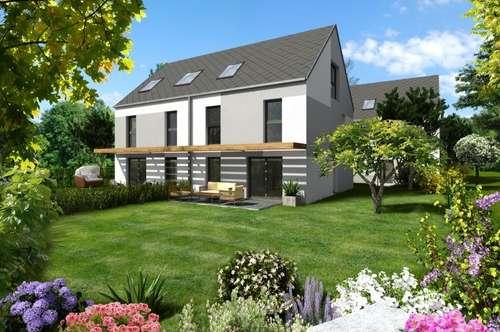 Wunderschöne Doppelhäuser mit großem Garten, nur 400m von der UBahn (U1) entfernt, Baurechtsgrund