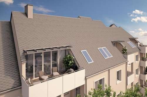 Loftfeeling erleben-  Traumhafte Dachgeschoß-Wohnung mit atemberaubendem Gebirgsausblick im grünen Stadtteil Oed