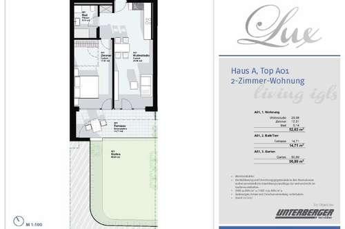 Innsbruck Igls - Zwei Zimmer Wohnung 52,63 m² - Top A01