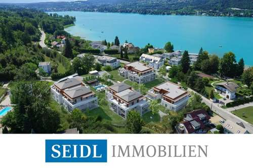 Velden: Seeblick-Penthouse mit Bademöglichkeit