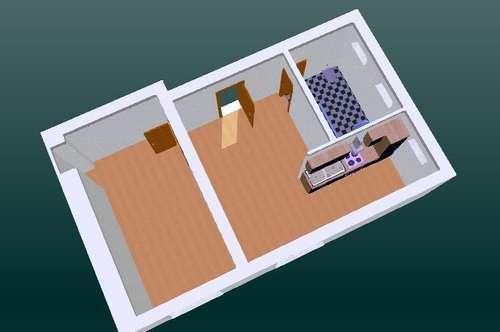 11968 - 2 Zimmer, 42 m² Wfl. Parkplatz