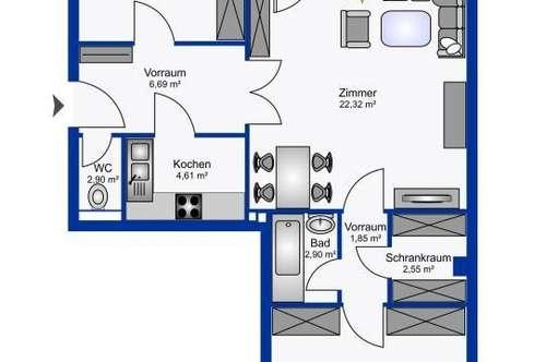 Sanierungsbedürftige  3 Zimmer Wohnung mit Balkon und sehr guter Anbindung - Bieterverfahren