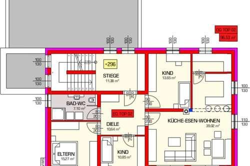 Neugebaute und lichtdurchflutete 4-Zimmer Wohnung im Zweifamilienhaus - ERSTBEZUG