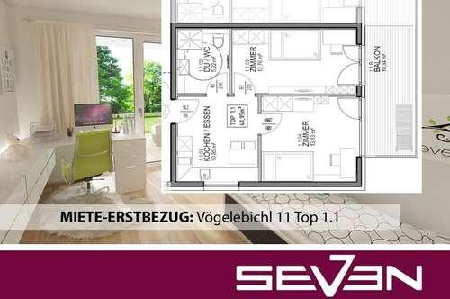 MIETE-ERSTBEZUG: 2-Zimmer-Wohnung Vögelebichl 11 Top 1.1