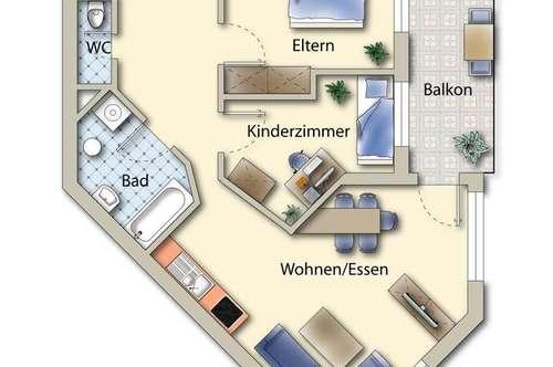 Leistbare Eigentumswohnung mit Tiefgarage in Tristach