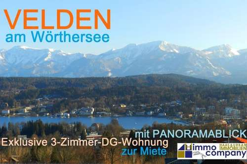 Über den Dächern von Velden: 3-Zimmer-Mietwohnung mit atemberaubendem Panoramablick