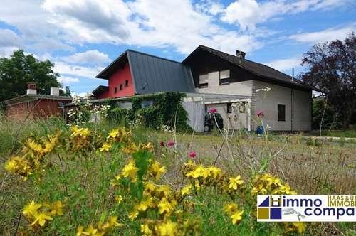 Großzügiges Einfamilienhaus + Bürotrakt ca. 414m² Nutzfläche – 3664m² Grund - Kaufpreis: 200.000 Euro