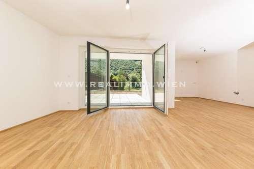 ! PROVISIONSFREI ! - Neu errichtete 3 Zimmer Gartenwohnung mit Doppelparkplatz westlich von Wien