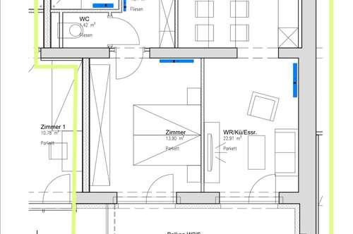 charmante 1 Zimmer Wohnung mit großem Süd-West Balkon ! günstig und neu !