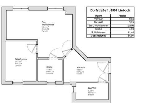 2-Zimmerwohnung im Herzen von Lieboch