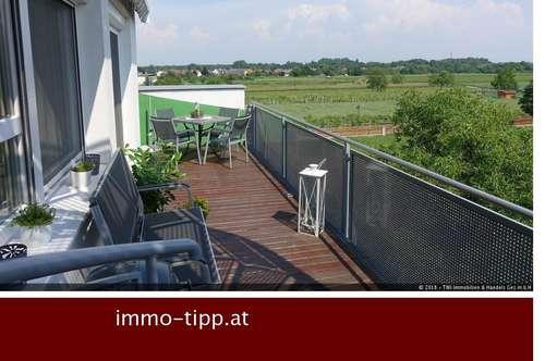 Moderne, top-ausgestattete Eigentumswohnung mit Balkon & wunderschöner ca. 112m² Dachterrasse in Leobersdorf