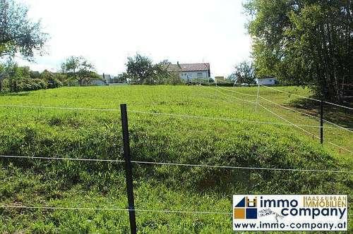 Aufgeschlossenes Baugrundstück in toller Ruhelage im Grünen in der Nähe von Stegersbach